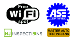 Free WiFi ASE Mater Technicians, & NJ Inspections